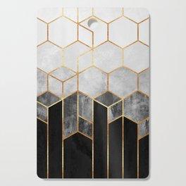 Charcoal Hexagons Cutting Board