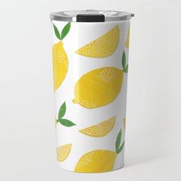 Lemon Cut Out Pattern Travel Mug