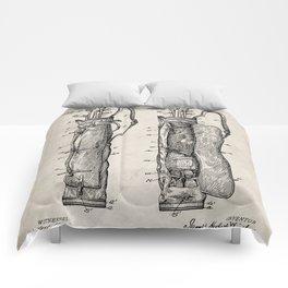 Golf Bag Patent - Caddy Art - Antique Comforters