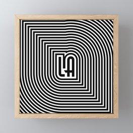 LA echo / Lined frame expanding from LA text Framed Mini Art Print