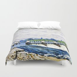 Alfred Sisley - Molesey Weir, Hampton Court Duvet Cover