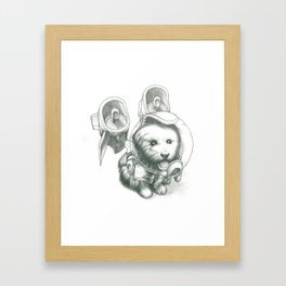 Jetpack Dog | Fluffy Framed Art Print