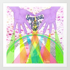 Spread Your Light to the Planet Art Print