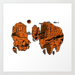floating sedona mountain ridge Art Print