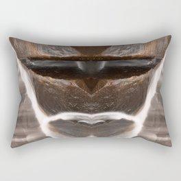Alien Tribal Mask Rectangular Pillow