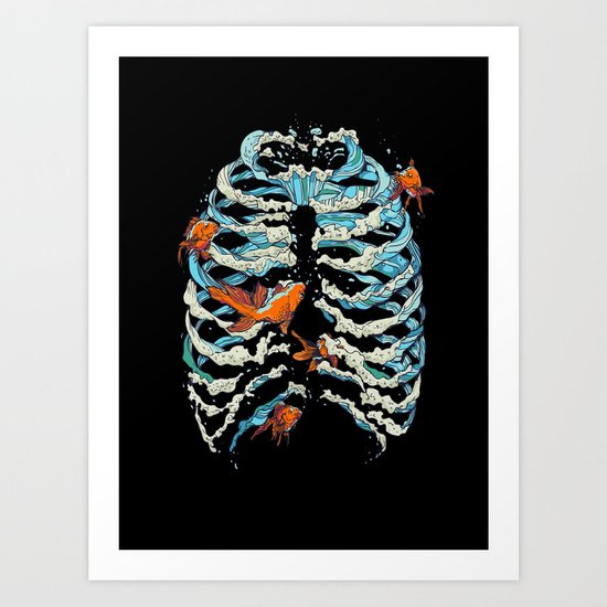 FISH BONE Art Print
