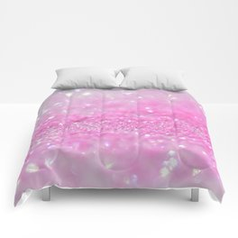 Sparkling Baby Girl Pink Glitter Effect Comforters