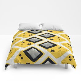 Gameboy Color: Yellow (Pattern) Comforters