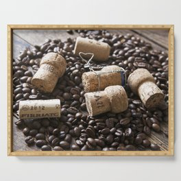 Cork & Coffee Serving Tray