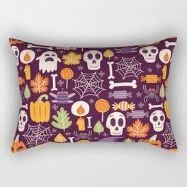 Retro Halloween Trick-Or-Treat Collage Rectangular Pillow