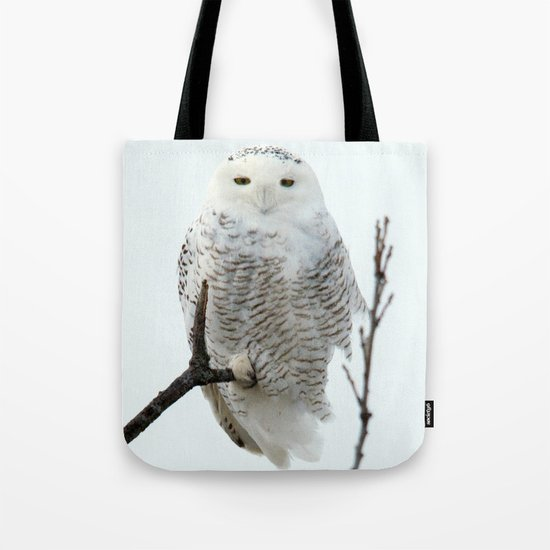 Snowy in the Wind (square) Tote Bag