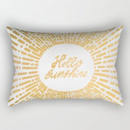Hello Sunshine Gold Rectangular Pillow