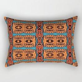 Tiki Face Abstract Rectangular Pillow