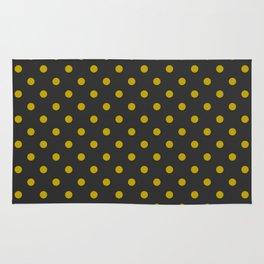 Black and Gold Polka Dots Rug