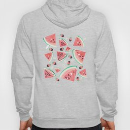 Watermelon popsicles, strawberries and chocolate Hoody