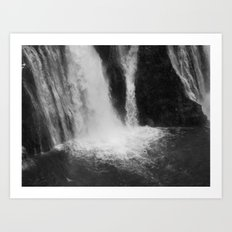 Places in Black & White: Burney Falls 2 Art Print