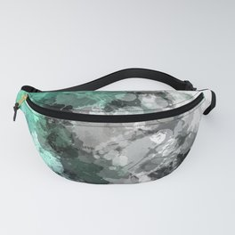 Mint Green Paint Splatter Abstract Fanny Pack