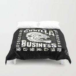 Gorilla Business - B&W Duvet Cover