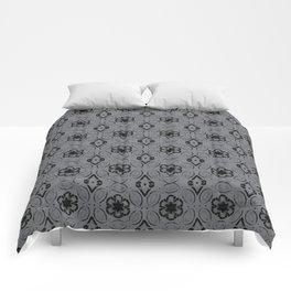 Sharkskin Floral Geometric Pattern Comforters