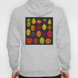 kawaii fruit Pear Mangosteen tangerine pineapple papaya persimmon pomegranate lime Hoody