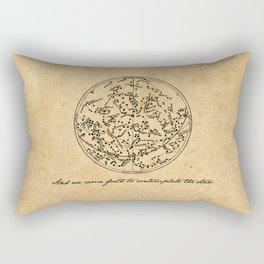 Dante's Inferno - Contemplate the Stars - Dante Alighieri Rectangular Pillow