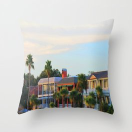 Places on the beach Throw Pillow