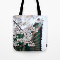 Blossoms Near the Bell, Seoul Korea Tote Bag