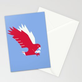 White-tailed eagle - Poland national symbol, flag colors Stationery Cards
