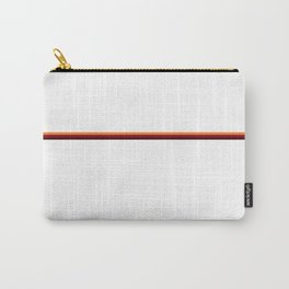 Red and Orange Stripe Carry-All Pouch