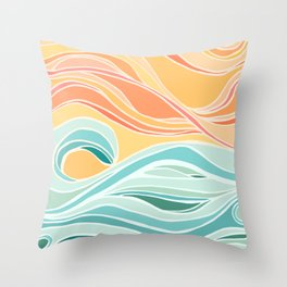 Sea and Sky II Throw Pillow