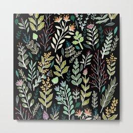 Dark Botanic Metal Print