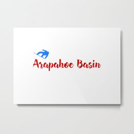 Arapahoe Basin Ski & Snow Fun Metal Print
