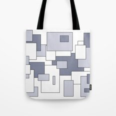 Squares - white and gray. Tote Bag