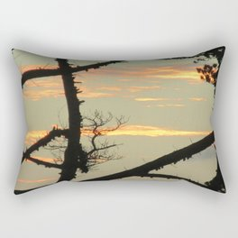 SUNSET BETWEEN A TREE Rectangular Pillow