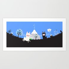 Run alpaca, run! Art Print