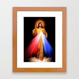 Jesus Divine Mercy I trust in you Religion Religious Catholic Christmas Gift Framed Art Print