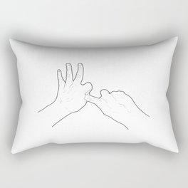 Fucking Gesture Rectangular Pillow