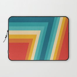 Colorful Retro Stripes  - 70s, 80s Abstract Design Laptop Sleeve