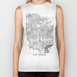 Las Vegas White Map Biker Tank