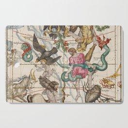 Vintage Constellation Map - Star Atlas - Sagittarious - Scorpio Cutting Board