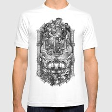 Reredos Mens Fitted Tee White X-LARGE