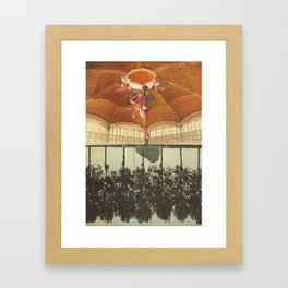 there was treasure to be found when she went inside Framed Art Print