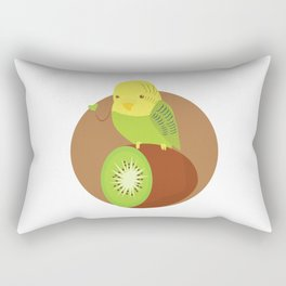 Funny Budgerigar Budgie Pet Bird Lover Kiwi Gift Rectangular Pillow