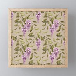 Seamless floral retro pattern background flowers Framed Mini Art Print