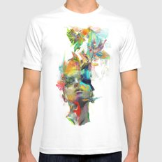 Dream Theory MEDIUM Mens Fitted Tee White
