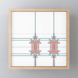 Abstract Flower Stripe Design Framed Mini Art Print