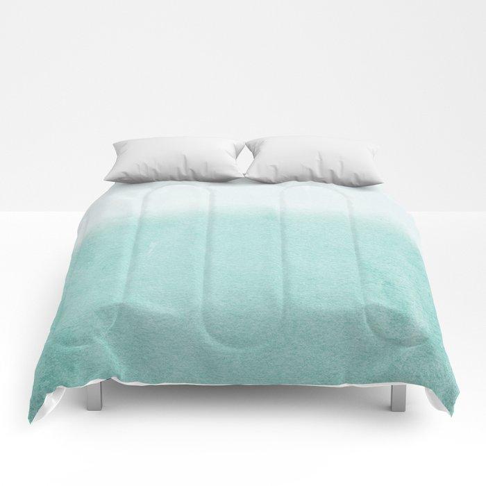 FADING AQUA Comforters