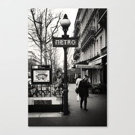 Paris - Metro Canvas Print