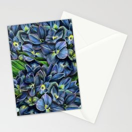 Realistic Hydrangea Drawing Stationery Cards