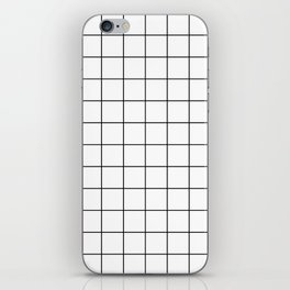 Grid Simple Line White Minimalist iPhone Skin